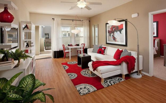 Hot Valentine Room Designs in Rich and Energetic Red Colors   (12)