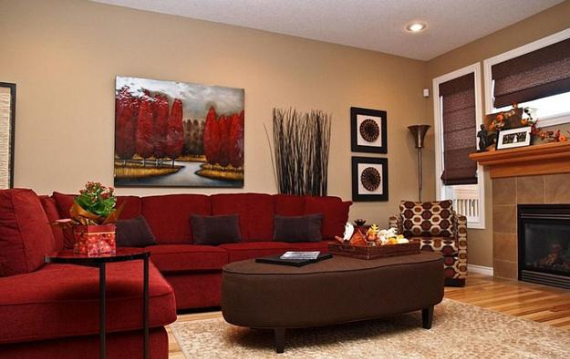 Hot Valentine Room Designs in Rich and Energetic Red Colors   (13)