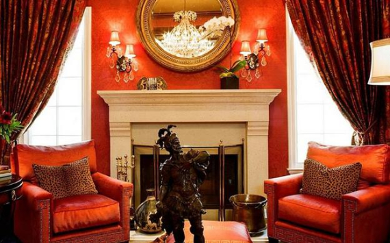 Hot Valentine Room Designs in Rich and Energetic Red Colors   (14)