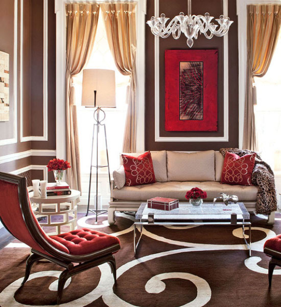 Hot Valentine Room Designs in Rich and Energetic Red Colors   (16)