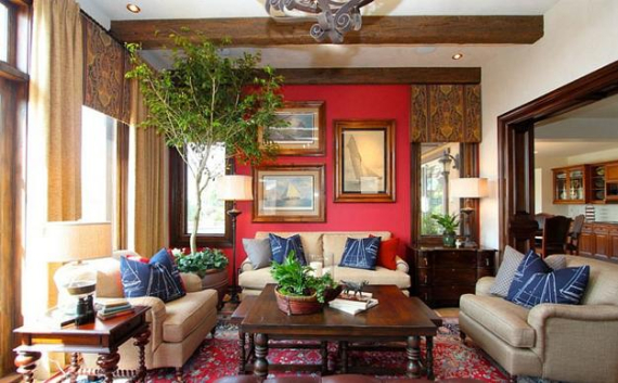 Hot Valentine Room Designs in Rich and Energetic Red Colors   (2)