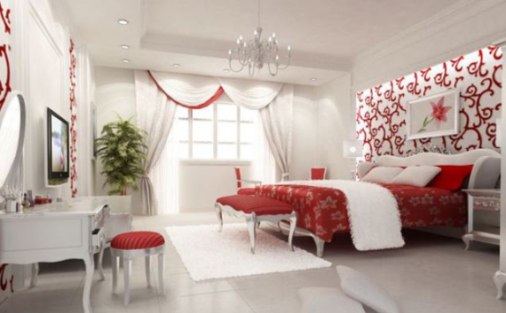 Hot Valentine Room Designs in Rich and Energetic Red Colors   (20)