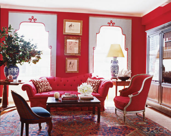 Hot Valentine Room Designs in Rich and Energetic Red Colors   (33)