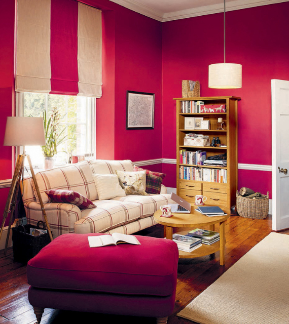 Hot Valentine Room Designs in Rich and Energetic Red Colors   (48)
