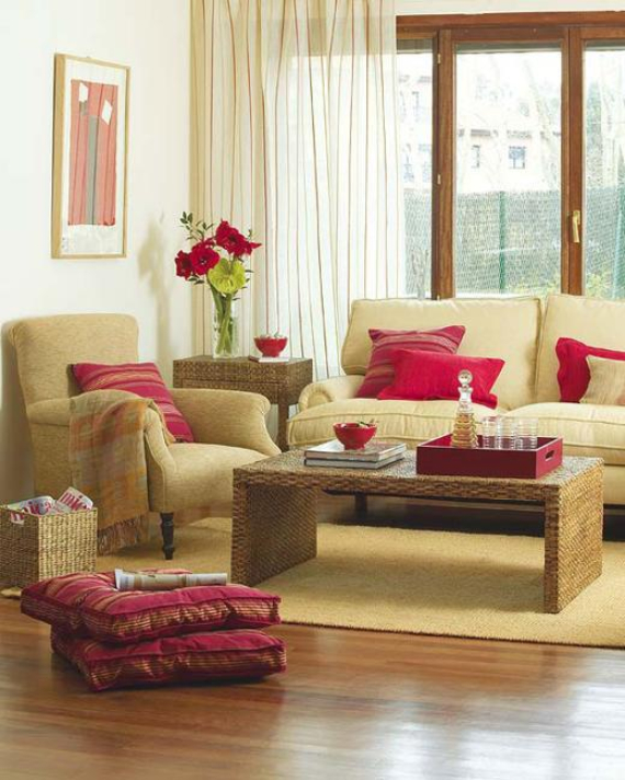 Hot Valentine Room Designs in Rich and Energetic Red Colors   (50)