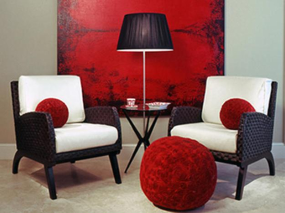 Hot Valentine Room Designs in Rich and Energetic Red Colors   (52)