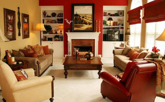 Hot Valentine Room Designs in Rich and Energetic Red Colors   (57)