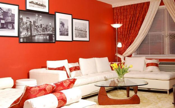 Hot Valentine Room Designs in Rich and Energetic Red Colors   (8)