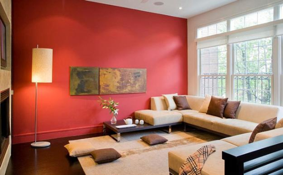 Hot Valentine Room Designs in Rich and Energetic Red Colors   (9)