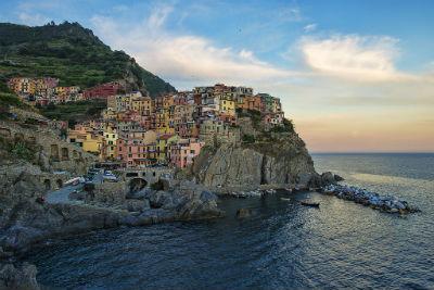 The Colorful Cliff-Side Town of Manarola , La Spezia,  Italy