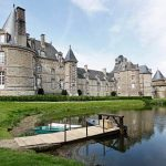 Dreamy Chateau de Normandy Surrounded by a Moat- Cherbourg France
