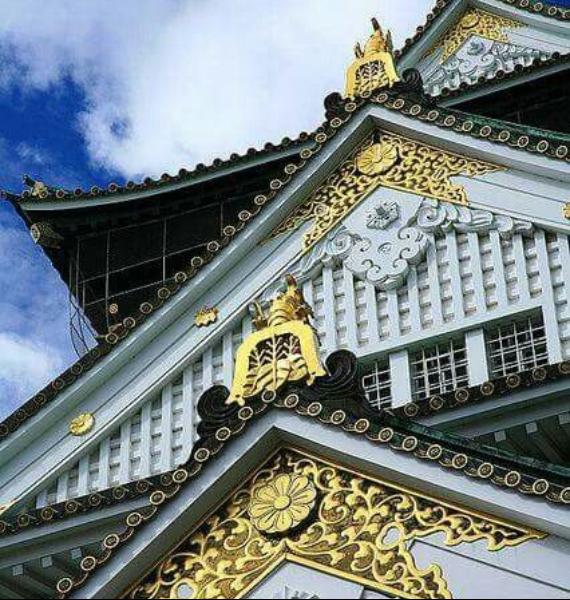 The Harmony and Beauty outside the Osaka Castle Japan (1)