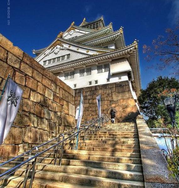The Harmony and Beauty outside the Osaka Castle Japan (4)
