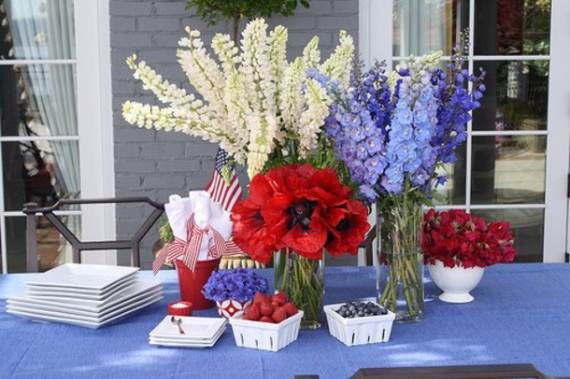30 Easy  4th July Centerpieces Decorating Ideas In National Colors