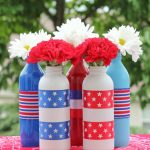 Spray painted juice jars make great, low-cost 4th of July centerpieces!