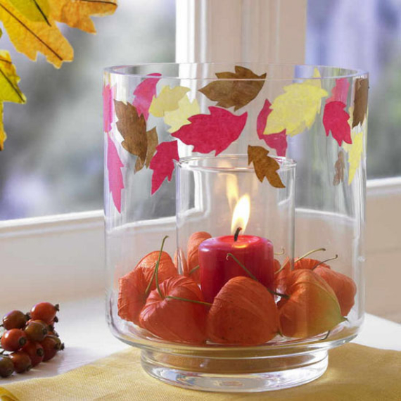 Cool Orange Fall &Thanksgiving Decorating Ideas with Chinese Lanterns  (13)
