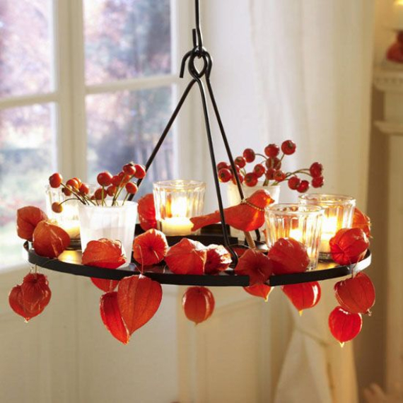 Cool Orange Fall &Thanksgiving Decorating Ideas with Chinese Lanterns  (2)