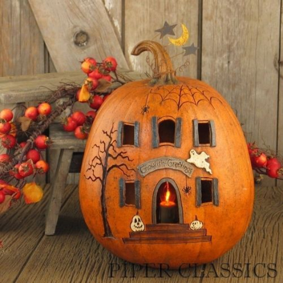New Ways to Decorate Your Halloween Pumpkins (30)