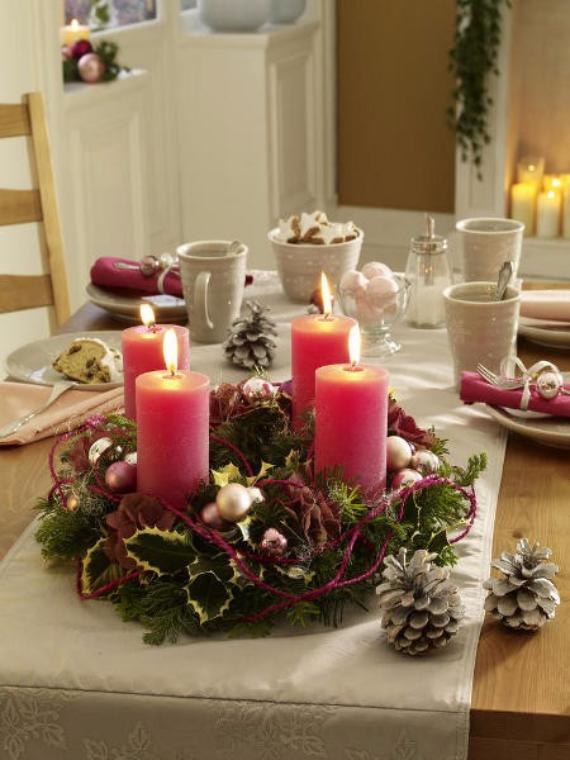 41 Fresh Christmas Decorating Ideas-Advent wreath candles ...