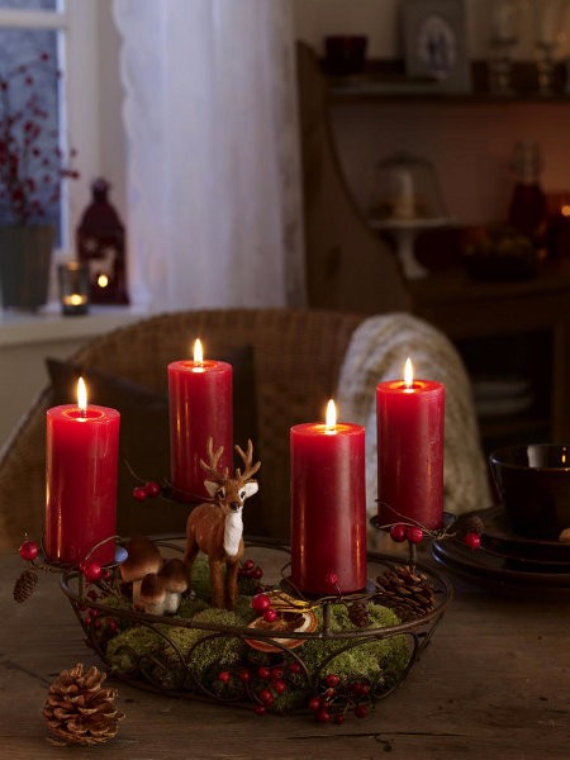 Advent wreath candles  (10)