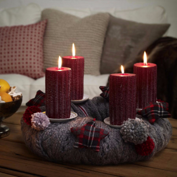 Advent wreath candles  (24)