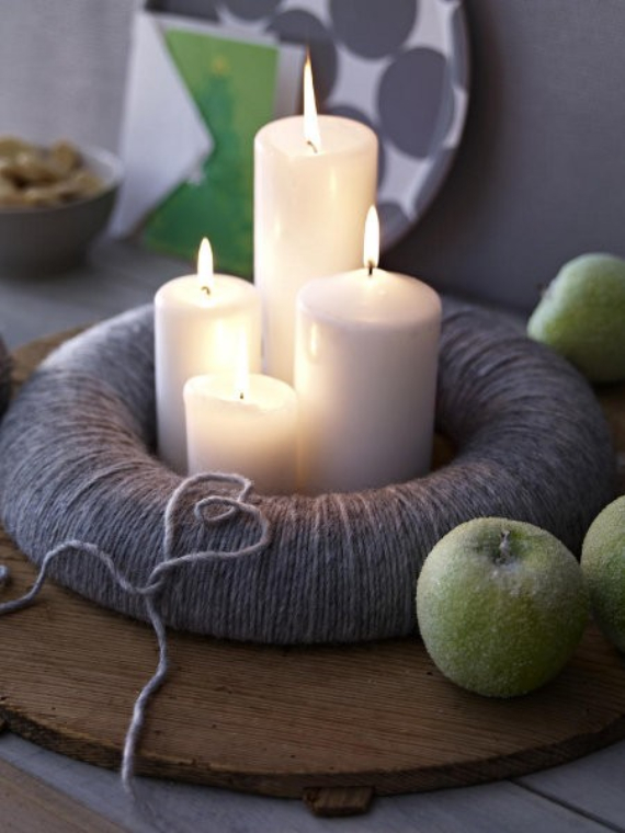 Advent wreath candles  (4)