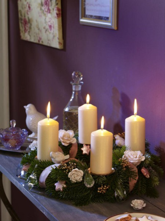 Advent wreath candles  (8)