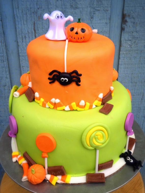 Cute & Non scary Halloween Cake Decorations (17)