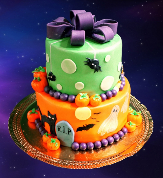 Cute & Non scary Halloween Cake Decorations (30)