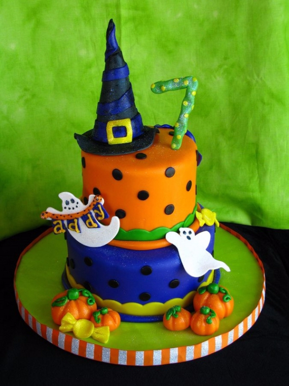 Cute & Non scary Halloween Cake Decorations (31)
