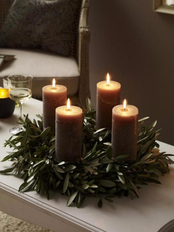 35 Creative Christmas Decoration Diy Advent Wreath Ideas