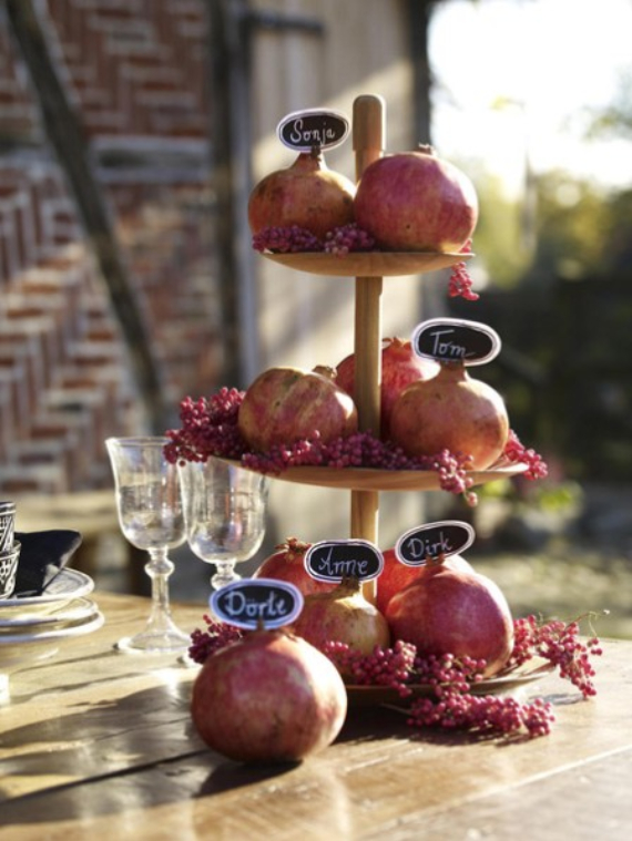 Autumnal Decorating Ideas With Pomegranates (1)