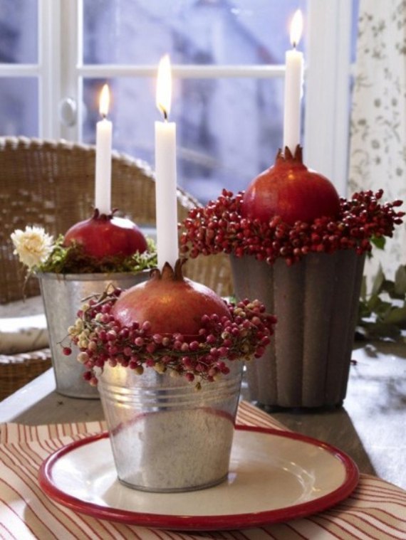 Autumnal Decorating Ideas With Pomegranates (3)