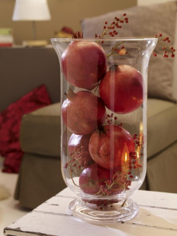 Autumnal Decorating Ideas With Pomegranates (4)