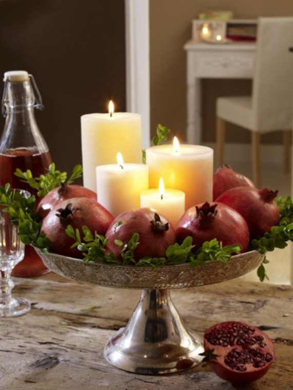 Autumnal Decorating Ideas With Pomegranates (7)