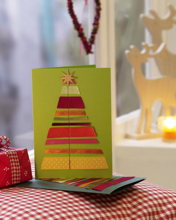 Beautiful DIY & Homemade Christmas Greeting Cards By Mail (1)
