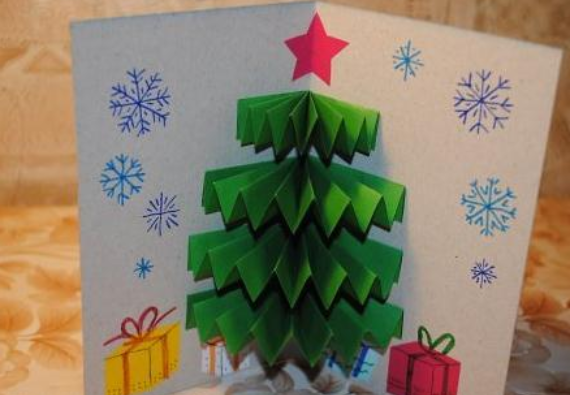 Beautiful DIY & Homemade Christmas Greeting Cards By Mail