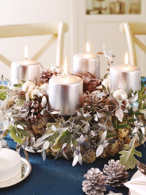 DIY Christmas Table Setting& Centerpieces Ideas (12)