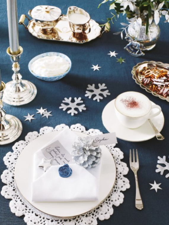 DIY Christmas Table Setting& Centerpieces Ideas (13)