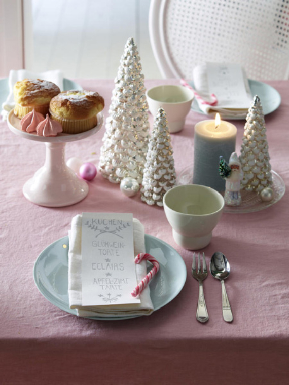 DIY Christmas Table Setting& Centerpieces Ideas (2)