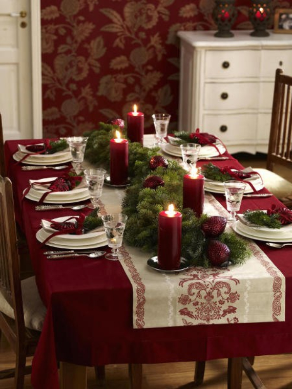 DIY Christmas Table Setting& Centerpieces Ideas (23)