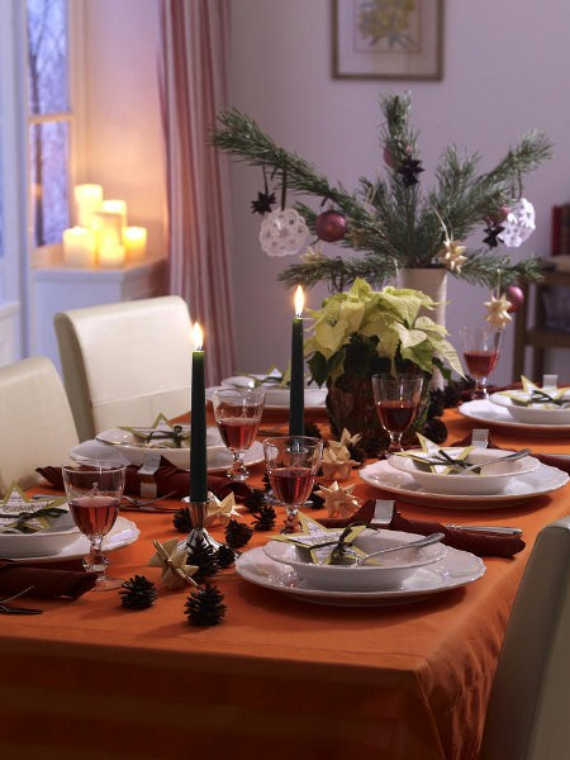 DIY Christmas Table Setting& Centerpieces Ideas (24)