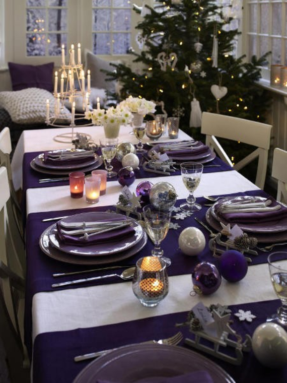 DIY Christmas Table Setting& Centerpieces Ideas (25)