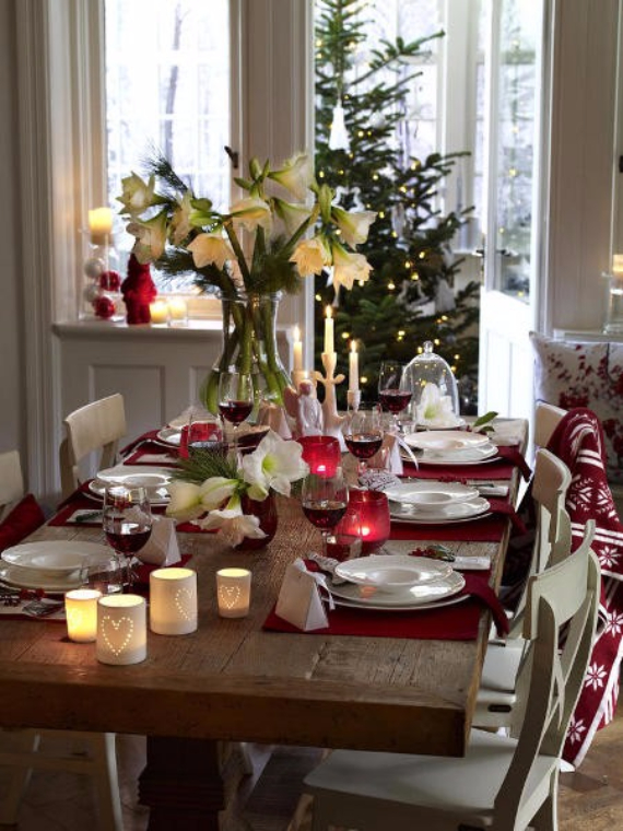 DIY Christmas Table Setting& Centerpieces Ideas (26)