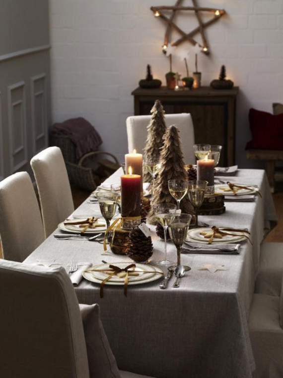 DIY Christmas Table Setting& Centerpieces Ideas (29)