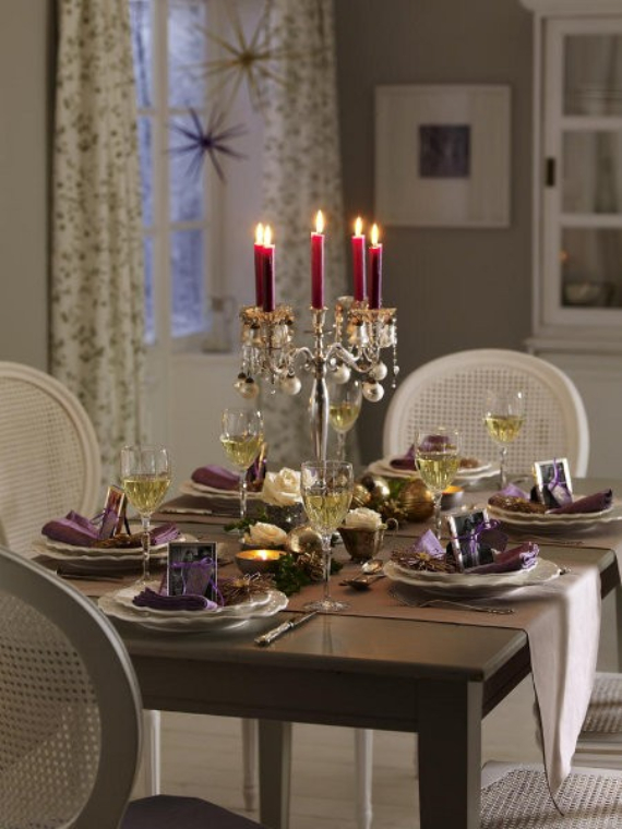 DIY Christmas Table Setting& Centerpieces Ideas (31)