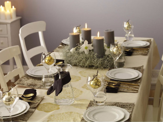 DIY Christmas Table Setting& Centerpieces Ideas (36)