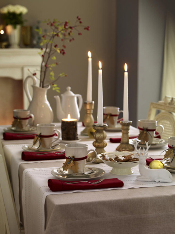 DIY Christmas Table Setting& Centerpieces Ideas (4)