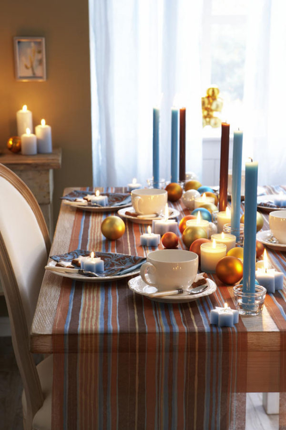 DIY Christmas Table Setting& Centerpieces Ideas (40)