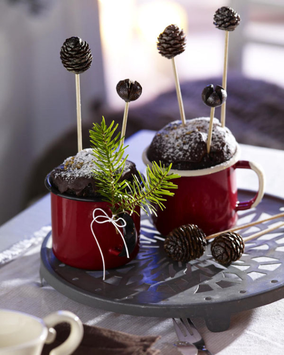 DIY Christmas Table Setting& Centerpieces Ideas (41)